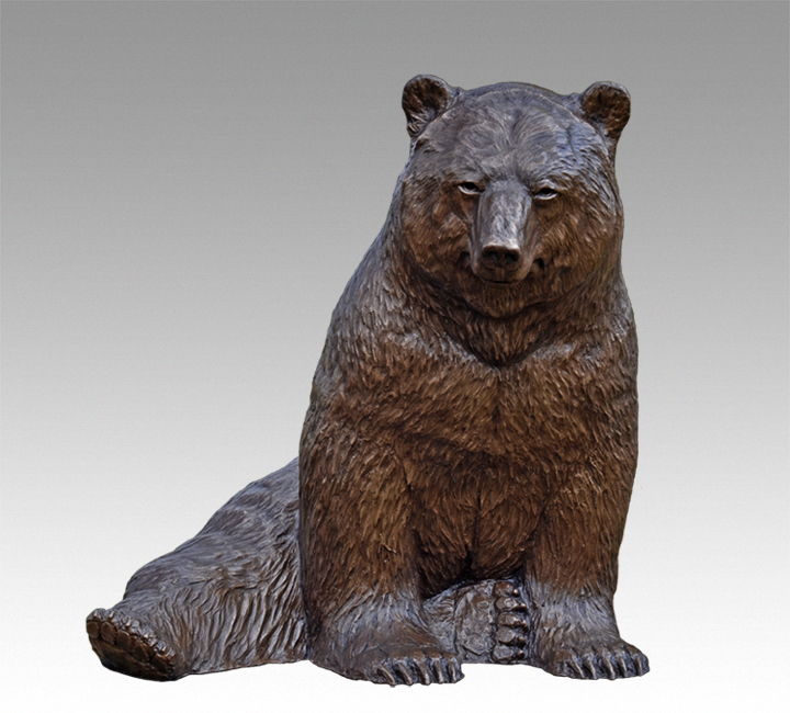 """Bear Pause / $3,000 CAD Metal Infused (Interior/Exterior), 31"""" W x 25 ½\"""