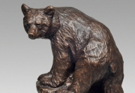 "Spirit Bear / $260 CAD Metal Infused, 9 ½"" H, Ed.60"